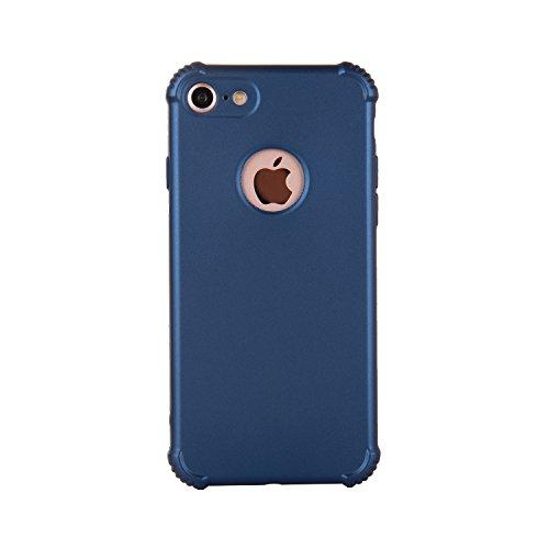 iPhone 7 Hülle, SHUNDA 360 Grad Hülle Komplettschutz Hard Handyhülle PC + Weichem TPU Cover Ultra Dünn Schutzhülle für iPhone 7 / iPhone 8 - Rose Gold Blau