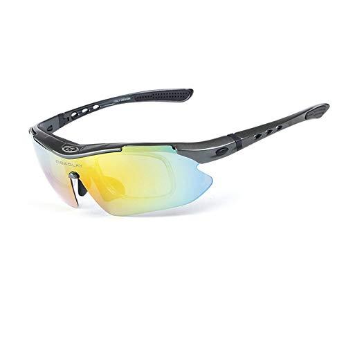 Coniea Schutzbrille Sonnenbrille TPU+PC Motorrad Brillen Damen Schutz Brille Grau