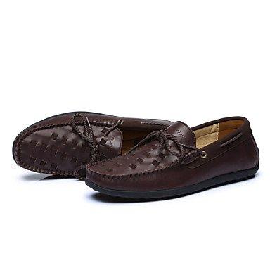 Chaussures d'hommes Office & Carrière / Party & soirée / Trotteurs en cuir décontracté noir / Brun / Taupe Black