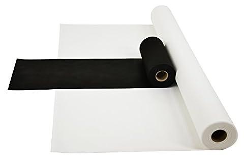 Sensalux Kombi-Set 1 Tischdeckenrolle 1,2m x 25m + Tischläufer 30cm (Farbe nach Wahl) Rolle weiß Tischläufer