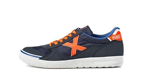 Munich Unisex-Erwachsene G3 Futsalschuhe Blau - Bleu (Marine/Orange)
