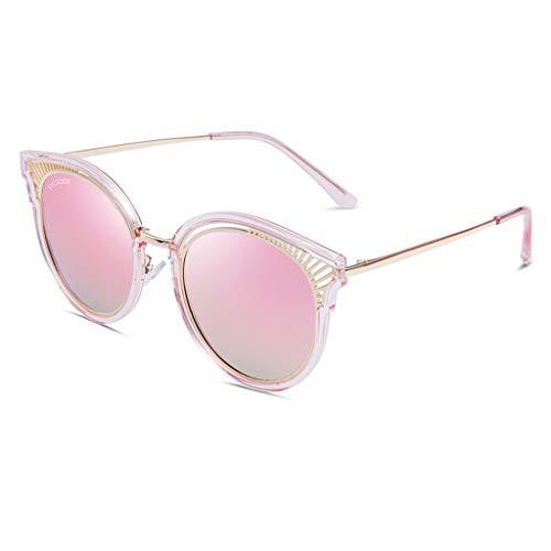 ZXW Sonnenbrillen- Sonnenbrille Mode großen Rahmen polarisierte Neue weibliche Flut Sonnenbrille Brille (Farbe : Roségold, größe : 14.5x14.9x5cm)