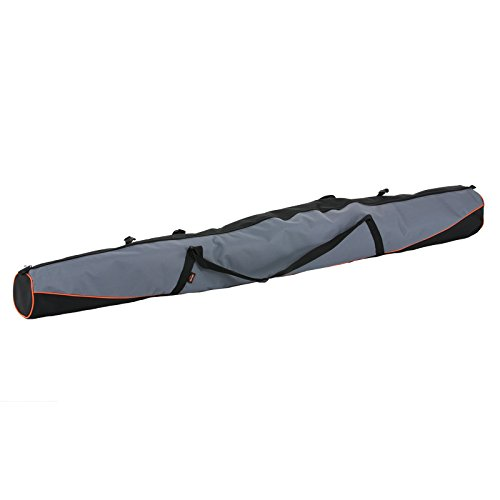 Skitasche Skicase Skibag Tasche Ski Bag Langlauf Skisack Skicover 160-170cm 160 cm schwarz-grau