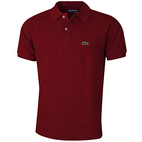 Pique Langarm Polo-shirt (Lacoste L1212 Herren Polo Shirt Kurzarm,Männer Polo-Hemd,2 Knopf,Regular Fit,Pinot(Z7F),Medium (4))