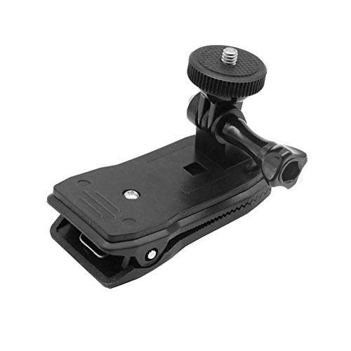 JUNERAIN Go Pro Kit d'accessoires rotatifs à 360 degrés pour Sac à Dos Chapeau Clip de Fixation