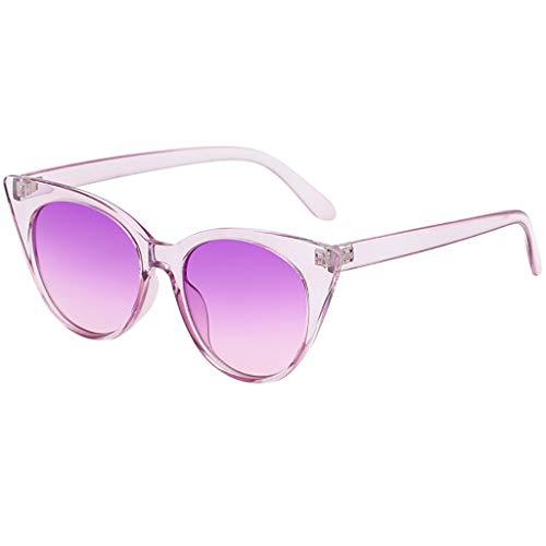 Igemy Klassische Mode Unisex Erwachsene Kleine Rahmen Herzförmige Sonnenbrille Vintage Style (C)