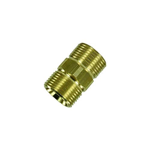 Kupplung - Schlauchverbinder für Kärcher wie 4.403-002.0 geeignet für Hochdruckschläuche von Kärcher und Kränzle Hochdruckreiniger HD & HDS mit M22 Gewinde - ohne Gummi - Hd-gummi