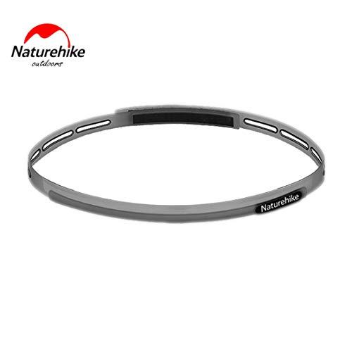 Preisvergleich Produktbild Sanzhileg Naturehike Männer und Frauen elastische Haarbänder mit Silikon-Griff leichte und bequeme Schweißbänder - grau