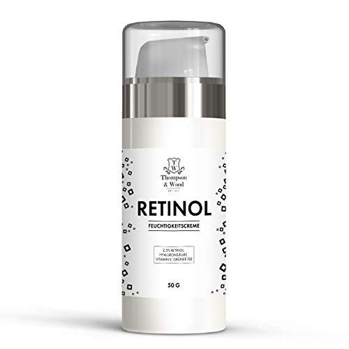 Retinol Creme | Anti-Aging | Enthält Vitamin E & Hyaluronsäure | Pflege für Ihre Haut | 100% Natürlich & Vegan | Tag & Nacht |...