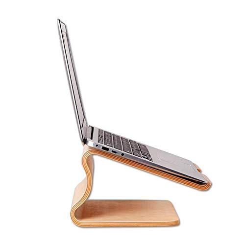 JCNFA Notebook-Pad Hohe Halterung Gebogene Holzkonstruktion Holzhalterung 13 15-Zoll-Computer Bürostützregal, 2 Farben (Farbe : Birch, größe : 10.74 * 9.33 * 5.51in)