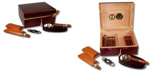 Humidor Cherry V-460 Geschenkset inkl. Polymerbefeuchter und Lifestyle-Ambiente Tastingbogen - Cherry Bar Set