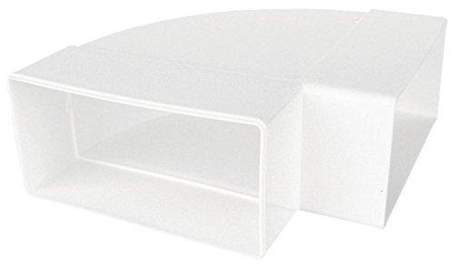 Preisvergleich Produktbild Lüftungskanal-Flachrohr Ø 100 mm Rohrbogen 90°,  waagerecht