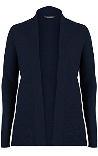 bon-marche-navy-blue-fine-knit-edge-to-edge-cardigan-size-med-16-18
