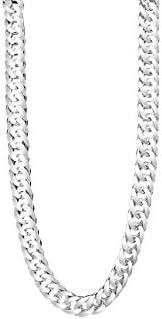 TAIPAN grande lungo doppia catena argento catena collana per uomo in vero 925 Argento Sterling 60 cm lungo 6 m