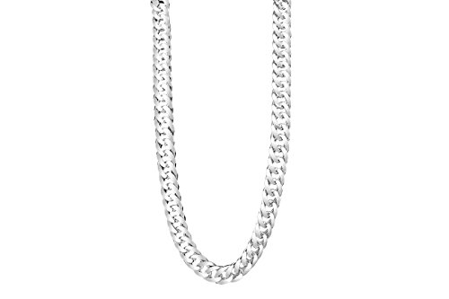 TAIPAN Silberkette Herren Doppel Panzerkette glänzend 60cm 6mm echt 925 Sterlingsilber Halskette für Ihn inkl. Schmuckzertifikat