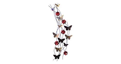 KunstLoft® Extravagante Metall Wandskulptur 'Schmetterlingsband' 48x134x8cm | Design Wanddeko XXL handgefertigt Metallbild Wandrelief | Schmetterling Bunt Bunt | Wandbild modern - Abstrakte Moderne Wand Skulptur