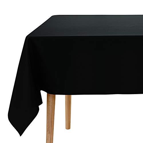 Amazon Marke: Umi. Essentials 1 Stück Tischdecke Wasserabweisend Tischdecke Lotuseffekt Tischtücher 240x140 cm Schwarz