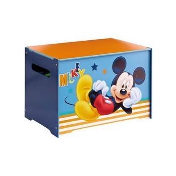 Worlds Apart 474MKE Coffre de Rangement Motif Mickey Mouse Bois Bleu 60 x 40 x 40 cm