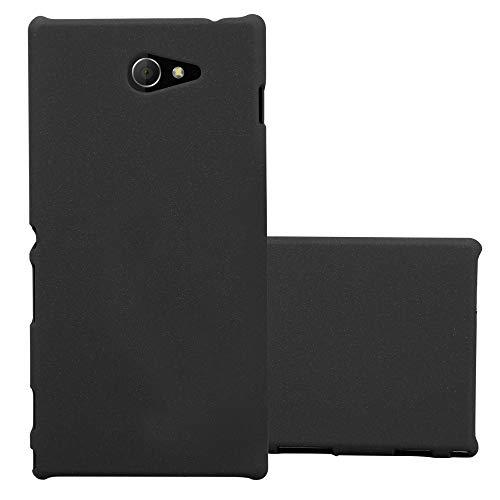 Cadorabo Hülle für Sony Xperia M2 - Hülle in Frosty SCHWARZ - Hardcase Handyhülle im matten Frosty Design - Schutzhülle Bumper Back Case Cover