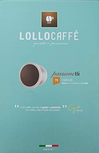 75 Cialde Capsule 150 Caffe LOLLO Bidose Espresso Point per macchine Lavazza Nims
