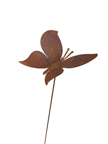 gartenstecker-edelrost-wippender-schmetterling-hhe-104-cm