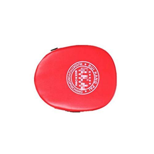 HATCHMATIC Schwarz Rot Boxhandschuhe Pads für Muay Thai Kick Boxing MMA Training PU-Schaum Boxer Ziel Pad: rot, Russische Föderation