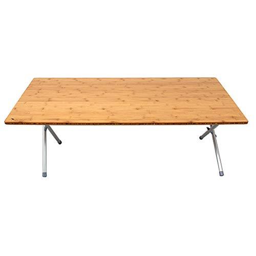 CHENGGUO Table Pliante en Bambou léger, Table Pliante en Bambou d'alliage d'aluminium d'extérieur, Table Pliante Simple de Salon de Chambre à Coucher, Table Pliante de Camping Barbecue (Taille : L)