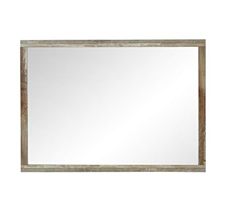 Stella Trading Bonanza Spiegel, Wandspiegel, Garderobenspiegel, Holz, braun, (B/H/T) 98 x 70 x 2 cm