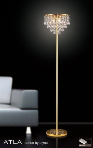 Deals For Atla Floor Lamp 4 Light Gold Finishd/Crystal Online