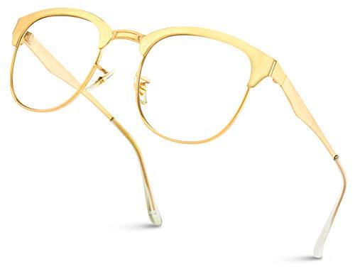 WearMe Pro - Metallrahmen Moderne Klare Gläser Nicht Verschreibungspflichtige Brille