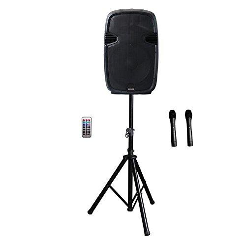 kimex-140-1015-Bluetooth-Speaker-Active-15-Trolley-2-x-Tripod