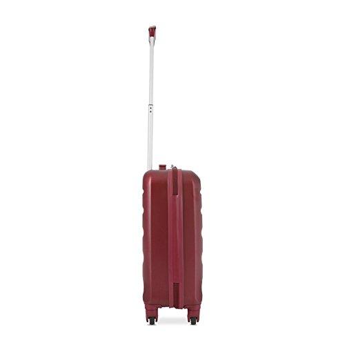 Aerolite Leichtgewicht ABS Hartschale 4 Rollen Handgepäck Trolley Koffer Bordgepäck Kabinentrolley Reisekoffer Gepäck, Genehmigt für Ryanair, easyJet, Lufthansa, Jet2 und viele Mehr, Weinrot - 2