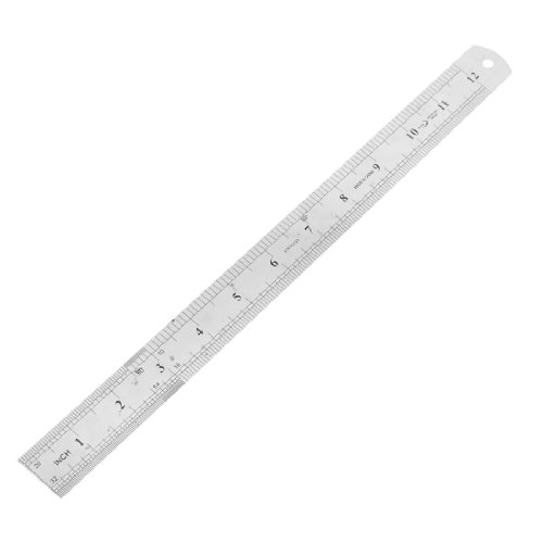 School Office medidor 2 A ambos lados regla de albañil regla 30 cm/30,48 cm