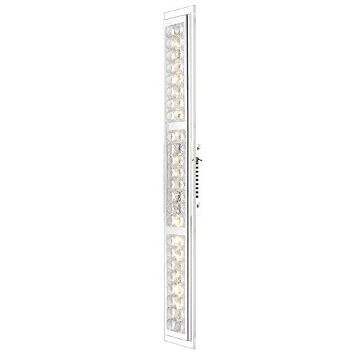 Adrette 18W LED Wand Leuchte Lampe Wohnzimmer Schalter Chrom Glas Kristall EEK A Globo 49338-3W - Kristall-wand-lampe