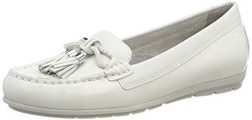 Tamaris Damen 1-1-24602-22 Slipper, Weiß (White Leather 117), 40 EU