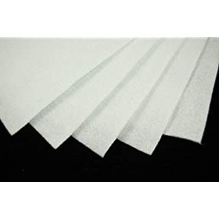 White Felt Sheets, A4 size, 5 per pack
