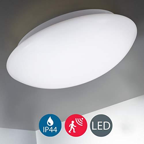 B.K.Licht I LED Deckenleuchte mit Bewegungssensor I 15 Watt I 1.500 Lumen I Neutralweiß 4.000K I IP44 I Ø28cm I Badezimmerlampe I Deckenlampe