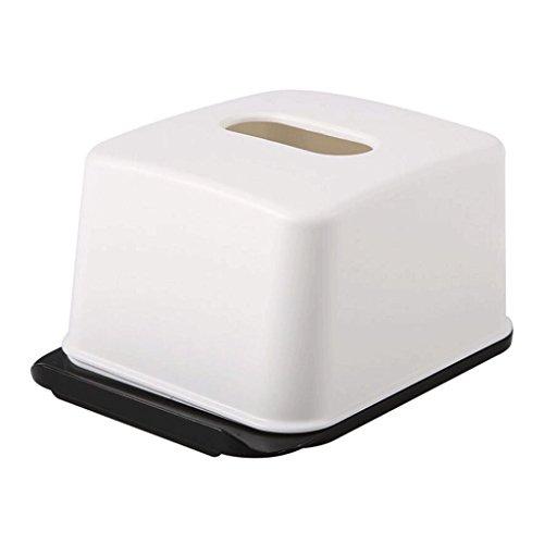 LXF Zwei - Verwenden Sie Papier Handtuch Aufbewahrungsbox Home Wohnzimmer Kreative Pumping Papier Box mit Handy Stand (Color : White) - Handy-white Box