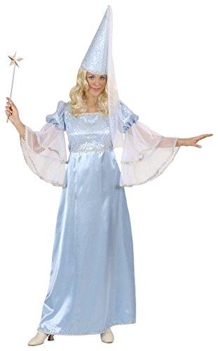 WIDMANN Aptafêtes--Kostüm Fee-Blau seidenmatt