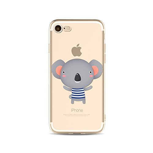 Coque iPhone 6 6s Housse étui-Case Transparent Liquid Crystal en TPU Silicone Clair,Protection Ultra Mince Premium,Coque Prime pour iPhone 6 6s-Koala-style 8 3