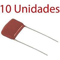 10X Condensador poliester no polarizado 10 mm 630V 4,7 NF