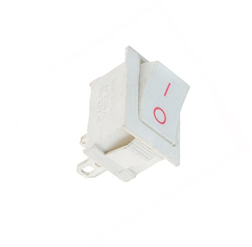 Interesting 1PCS On / Off Rectangle Rocker Switch Auto-Schlag-Boot + wasserdichte Abdeckung - White ON / OFF