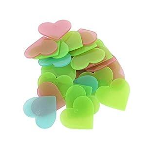 Toyvian 100 Stücke Herz Aufkleber Sticker Fluoreszierende Wandaufkleber Wandsticker Wandtattoos für Kinderzimmer…