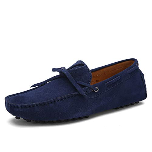 Uomo pelle scamosciato mocassini scarpe da guida stringate casuale morbido oxford scarpe piatto scarpe da barca taglia 38-44 eu