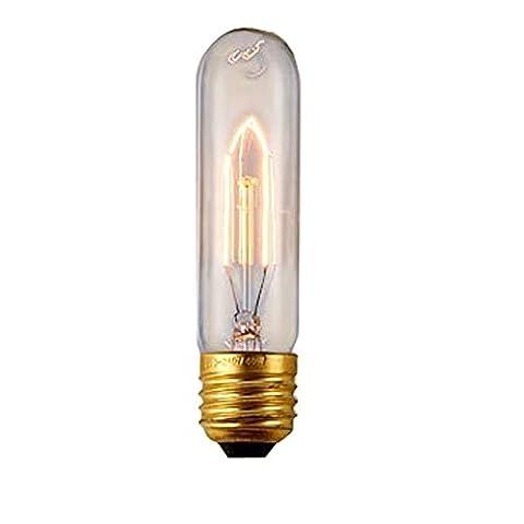Vintage Edison Ampoule à filament de tungstène ampoule à vis E27, Verre, T10-1 220V 40W, E27 40.00 wattsW