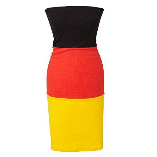 wellyou Fankleid Deutschland (Deutsche Flagge Kleid)