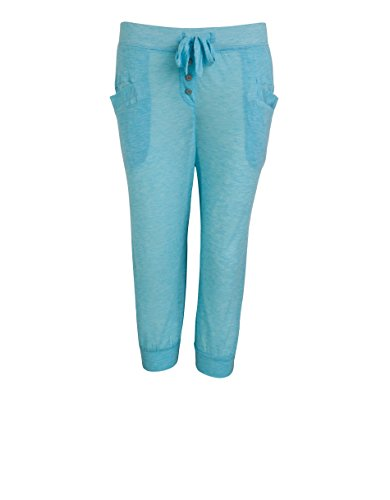 Jockey Damen Pant Modal Hose Unifarben, Größe: XL, Farbe: Blau (Damen Capri Jockey)