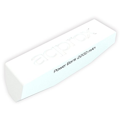 Approx APPPB22EVW – Cargador Universal con Batería Externa de 2200 mAh, Color Blanco