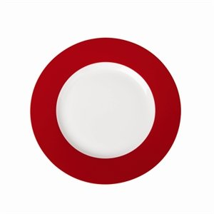 Royal Porcelaine Gg116 Maxadura Bord plate, cerclé, Rouge (lot de 12)