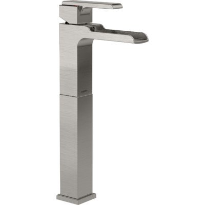 Delta Faucet 768LF-SS Ara Single Handle Single Hole Lavatory Faucet with Riser and Channel Spout, Stainless by DELTA FAUCET -